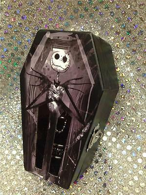 Jack & Sally Nightmare Before Christmas Simply Meant To Be 2 Ring Set Coffin Box