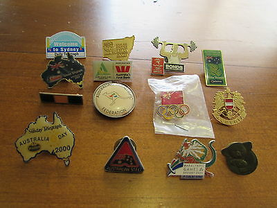 Collection of Pins & Badges - Sydney Paralympics 2000 & Others x 14 - BULK LOT