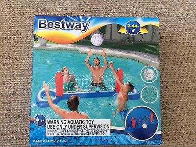 Pool Beach Water Inflatable Floating Volleyball Set Sport Repair Patch