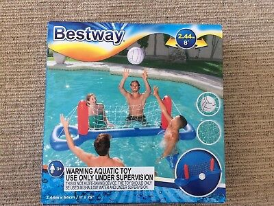 Pool Beach Water Sport Inflatable Floating Volleyball Set Repair Patch Incl.