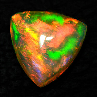 6.28 Cts Natural Ethiopian Opal Oval Cabochon 14 mm Volcanic Fire Fine Gemstone