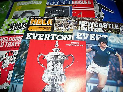 12 Different Ipswich Town Away Football Programmes