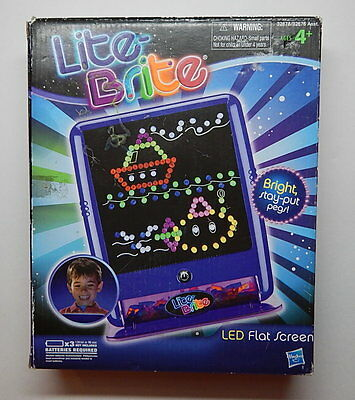 hasbro 2010 lite brite led flat screen blue r12889