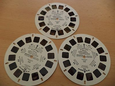3 x OLD VINTAGE SAWYERS TOY 3D viewmaster viewer reels DISNEY hunchback notre
