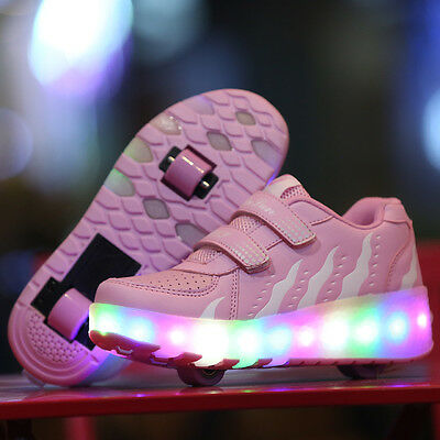 Children Luminous Shoes LED Light With Wheels Roller Skate Shoes Kids Sneakers