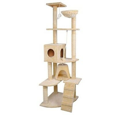 Cat Scratching Post Tree Gym House Scratcher Poles Furniture Giant 193cm #AU
