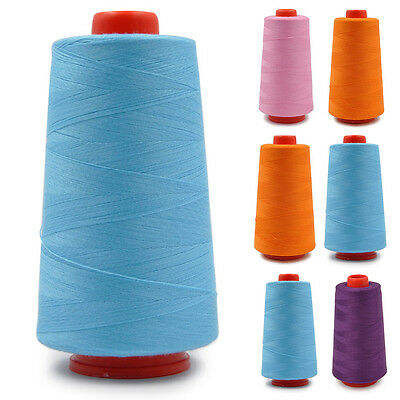 3000 Yards Polyester Industrial Overlocking Soft Sewing Machine Thread 8 Colors