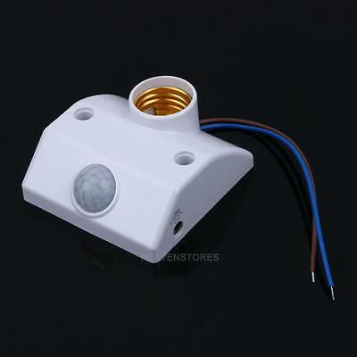 E27 220V Light Base Infrared PIR Body Motion Sensor Automatic Lamp Holder Switch