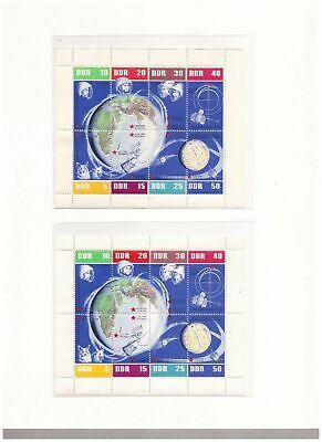 s14660) SPACE  - 1962 MNH** DDR S/S x 2 (variety!)