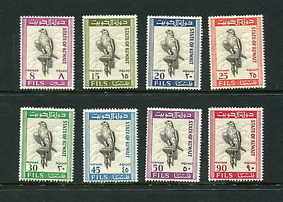 Kuwait #291-8  birds falcons  1965 8v. MNH-D357