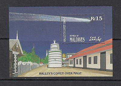 SPACE/COMET - Maldives  - 1986 sheet of 1 - (SC 1156)-MNH-A279