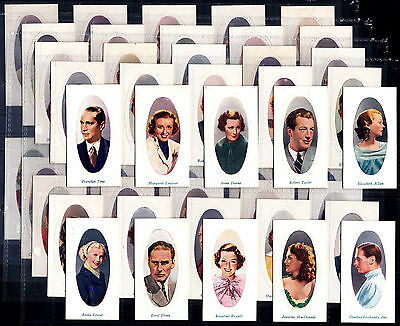 Full £60 Set G Phillips SCREEN STARS 1936 Cigarette Cards In Sleeves