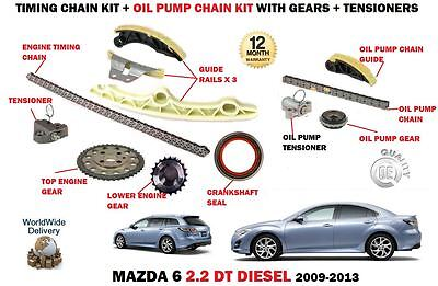 For Mazda 6 2.2 Dt Diesel 2008-2/2013 Timing Chain Tensioner Set + Oil Pump Kit