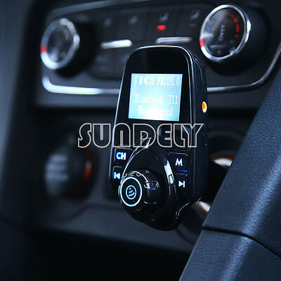 FM Transmitter Bluetooth Car Kit with USB Charger Streaming Music From Phones UK