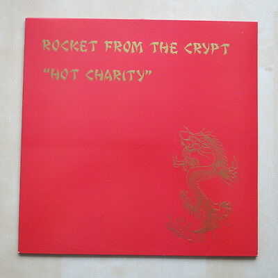 ROCKET FROM THE CRYPT Hot Charity UK vinyl LP with insert Elemental Records