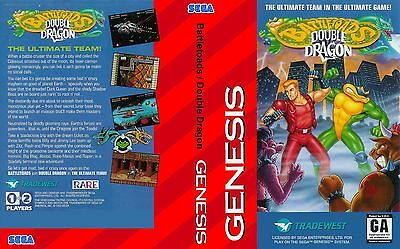 Battletoads Double Dragon Genesis Replacement Box Art Case Only 5 32 Picclick