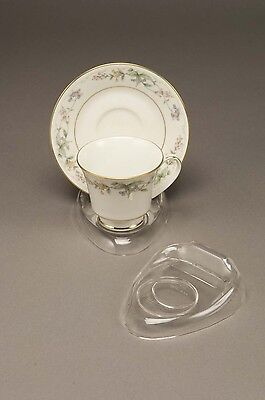 6 New Clear Tea Cup & Saucer Stands, holder, espresso sets, coffee & tea cups