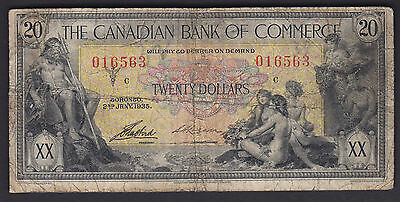 1935 Canadian Bank of Commerce $20 - S/N: 016563/C