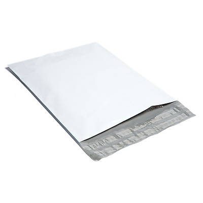 25 #00 4x6 White Poly Mailers Shipping Envelopes Plastic Mailing Bags BY BAG