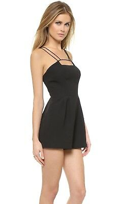 Keepsake Black Mirror Image Relaxed fit Strappy Playsuit Romper £116 NEW
