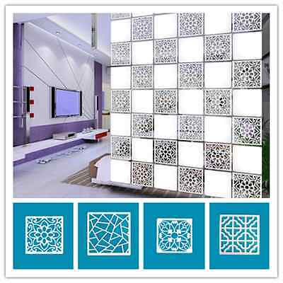 4pcs Hollow out of carve patterns Sitting room office partition hanging screen v