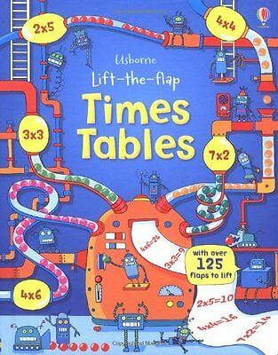 Lift the Flap Times Tables Book (Usborne Lift-the-Flap-Books),New Condition