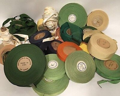 Vintage Millinery Hat Band Spools, Huge Lot! Costuming, Cosplay, Prop