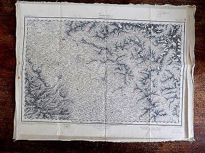 1914 Indian Atlas Kashmir Islamabad Himalaya Mountains Old Antique Map SCARCE
