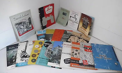 19 VINTAGE MACHINERY Tooling Catalog & Brochures 1960's Machine Tool Lathe  Mill