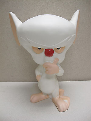 """Pinky and the Brain Resin / Porcelian Brain 18"""" Statue WB Animaniacs 1997"""