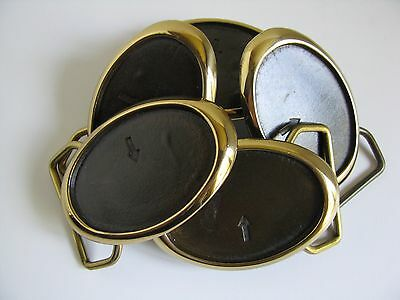 Small Solid Brass Belt Buckle Blanks 5