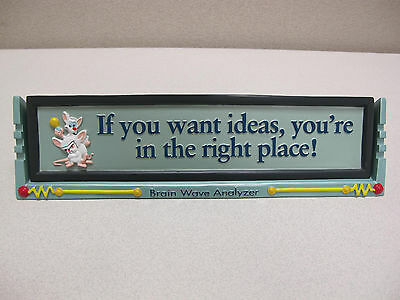 Pinky and the Brain Brain Wave Analyser Desk Sign