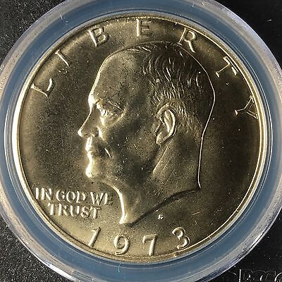 1973-S $1 Eisenhower Silver Dollar PCGS MS66       28389464