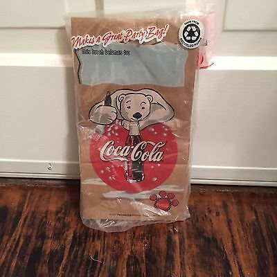 Vintage Collectible Coca Cola 2001 Paper Lunch Bags 20 Ct. Sealed