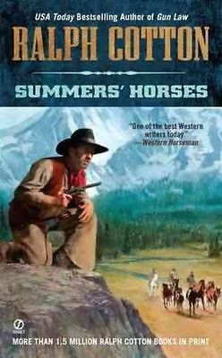 Summers' Horses (Ralph Cotton Western Series)-ExLibrary