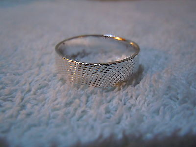 NEW PURE SILVER .999 BULLION SZ10 MENS RING HAND MADE BY ANARCHY JEWELRY #U6T3