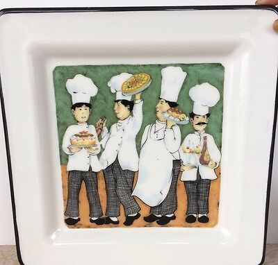"""Brunelli Four Chefs 10 1/2"""" Plate Made In Italy"""
