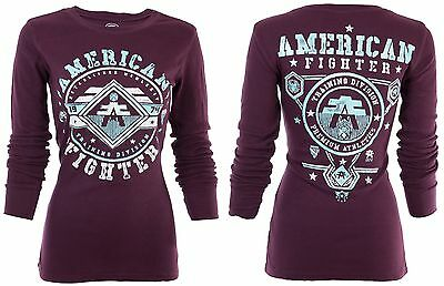 AMERICAN FIGHTER Womens THERMAL T-Shirt CURTIS Biker UFC Sinful $54 NWT