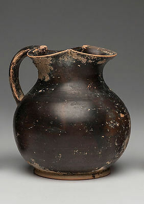 Ancient Apulian Black glazed oinochoe Jug Ca. 350 BC.