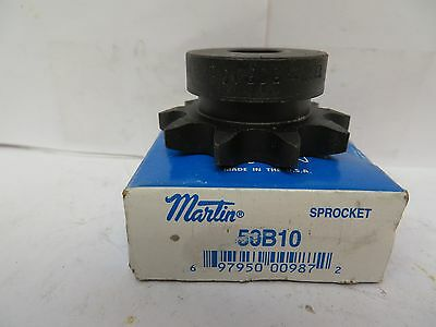 "New Martin Unkeyed Sprocket 50B10 5/8"" Bore"