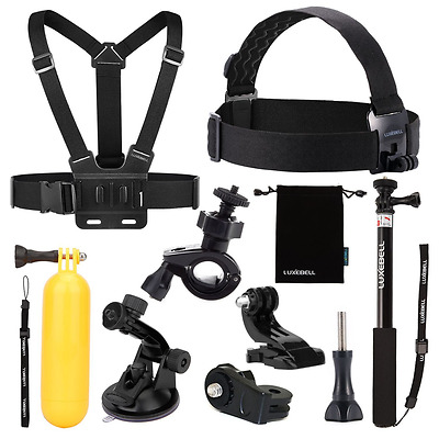 Luxebell 9 in 1 Zubehör-Kit für Sony Action Cam HDR-AS15 AS20 AS100V AS200 HDR