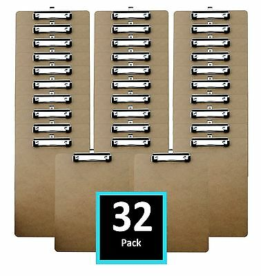 Clipboards (32 Pack) Letter Size Hardboards in bulk  Perfect for office busin...