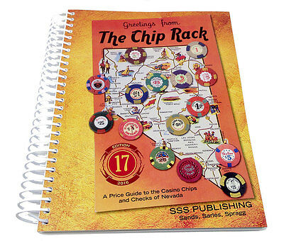 17th Edition Chip Rack Collector Casino Poker Chips Pricing Guide  2016 *