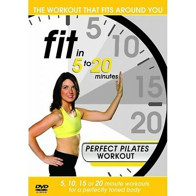 Fit in 5 to 20 Minutes - Perfect Pilates Workout DVD Brand New