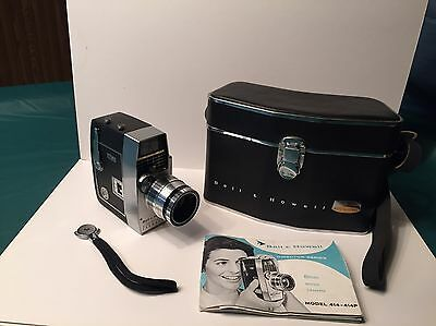 Bell & Howell Director Series 8mm Movie Camera with Electric Eye Vintage w/ Case