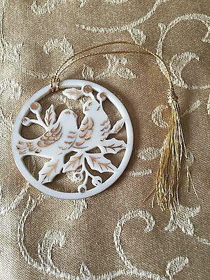 Lenox 12 Days of Christmas Ornament Two Turtle Doves No Box