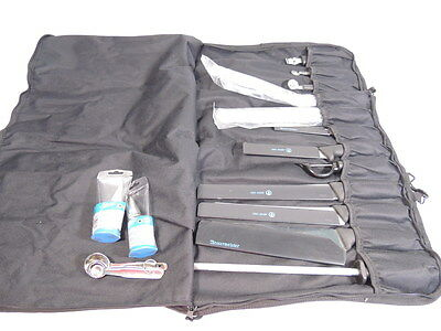 Messermeister Stainless Steel Culinary 5 Knife Set Cooking Baking Utensils Case