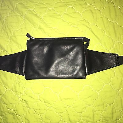 Pelle Studio Wilson Leather Black Fanny Pack Genuine Leather,new.