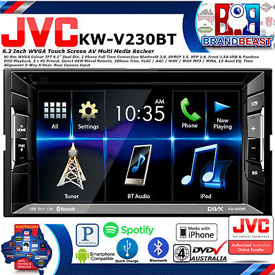 Jvc Kw-V230Bt 6.2 Car Stereo Dvd Bluetooth Usb Iphone Ipod Pandora Android Bt Cd
