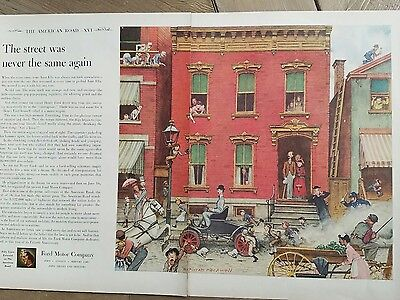 1953 Ford Motor Company American Road Series Norman Rockwell ad